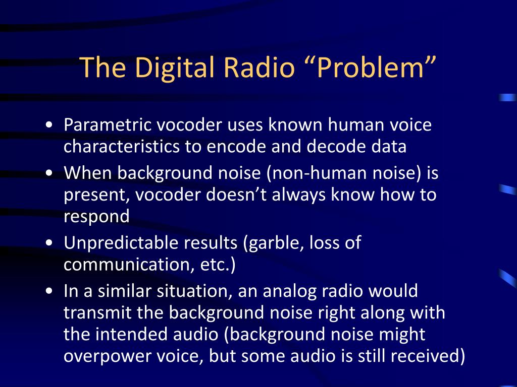 "The Digital Radio ""Problem"""
