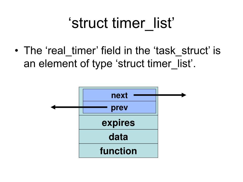 'struct timer_list'