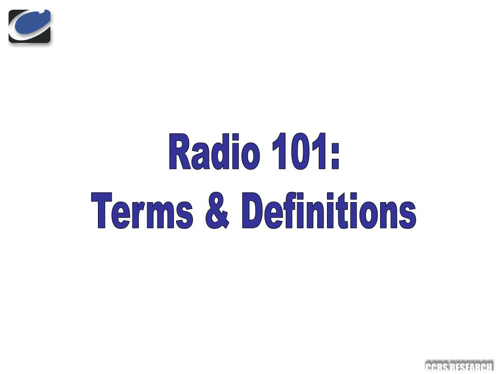 Radio 101: