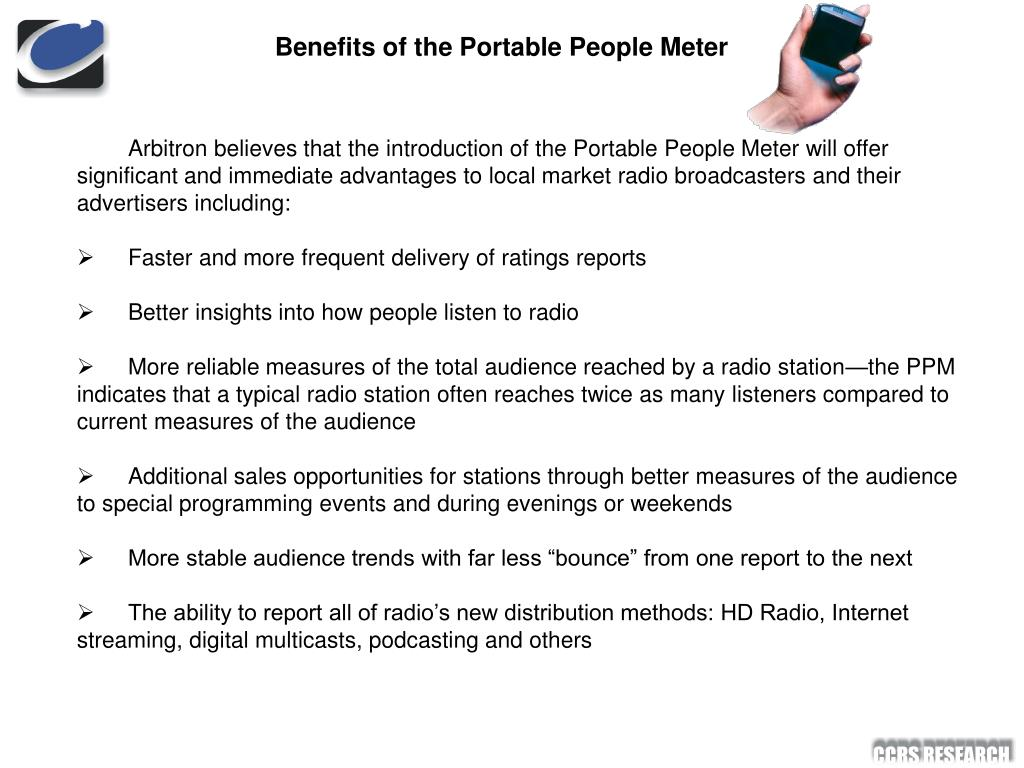 Benefits of the Portable People Meter