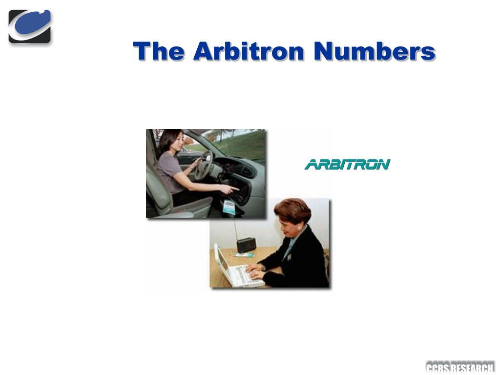 The Arbitron Numbers