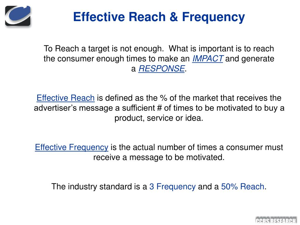 Effective Reach & Frequency