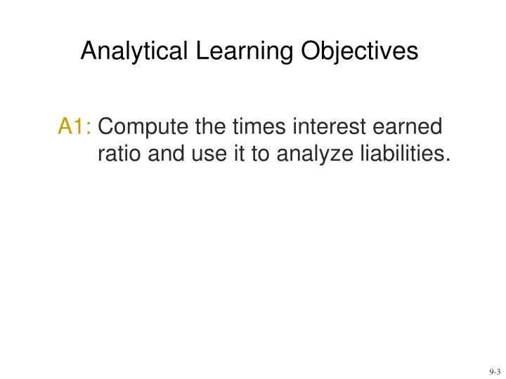 Analytical learning objectives l.jpg