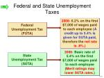 federal and state unemployment taxes