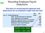 recording employee payroll deductions