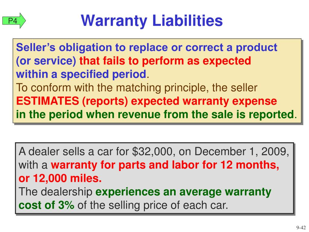 Warranty Liabilities