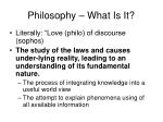 philosophy what is it