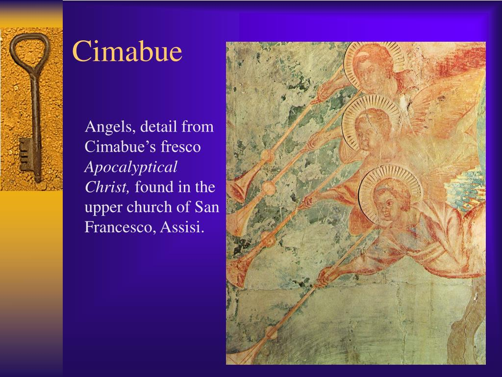 Angels, detail from Cimabue's fresco