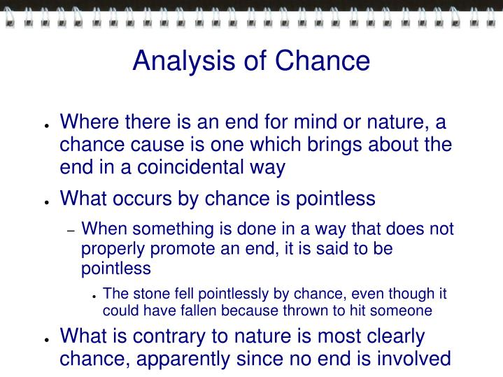 Analysis of Chance