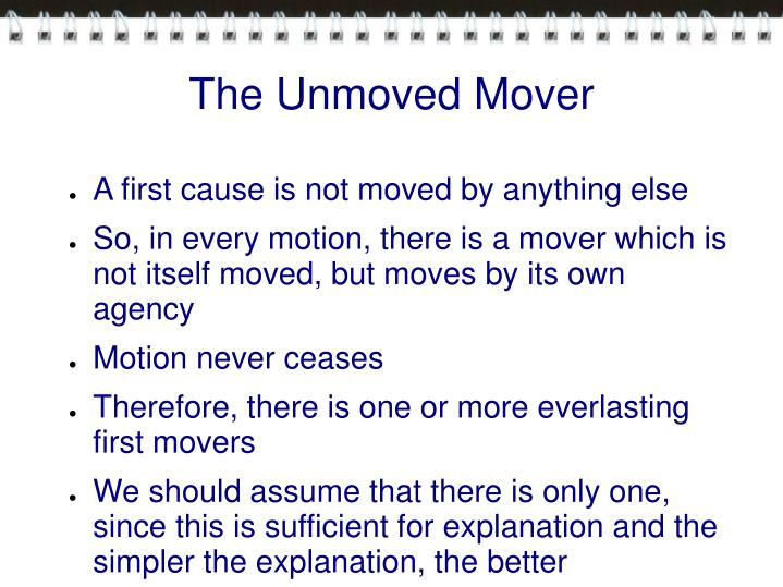 The Unmoved Mover