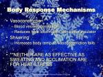 body response mechanisms