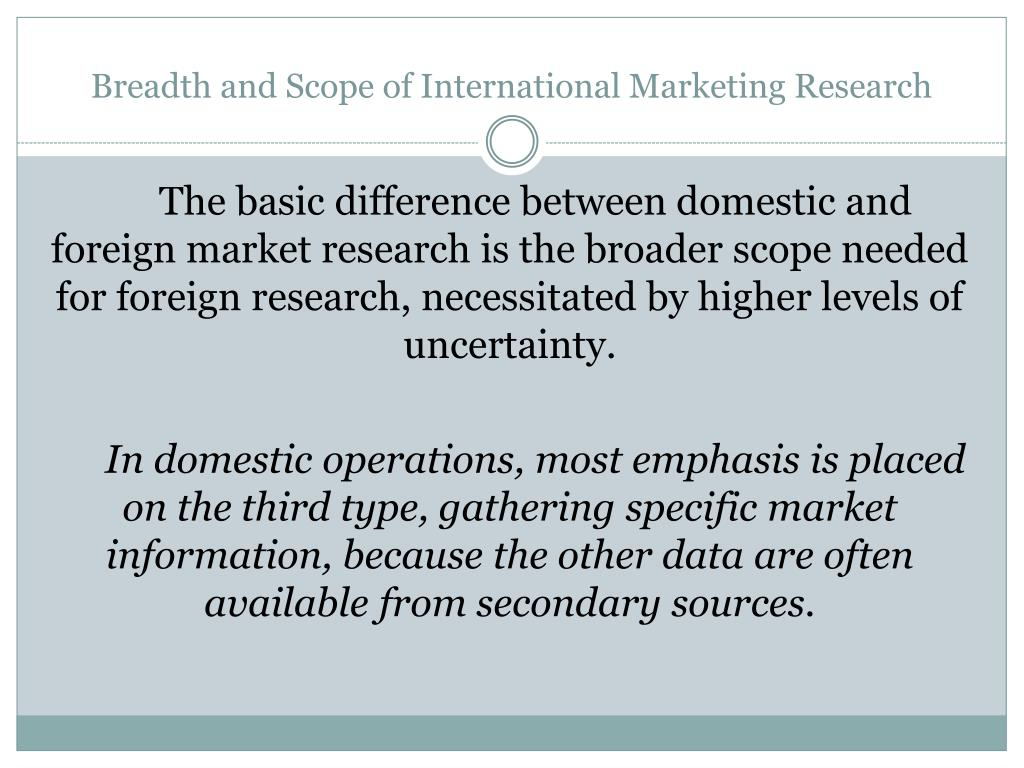 differences between domestic marketing and international marketing What is the difference between, international marketing and global marketing .
