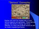 serious gameplay