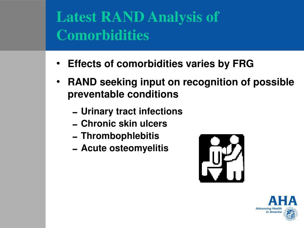 Latest RAND Analysis of Comorbidities