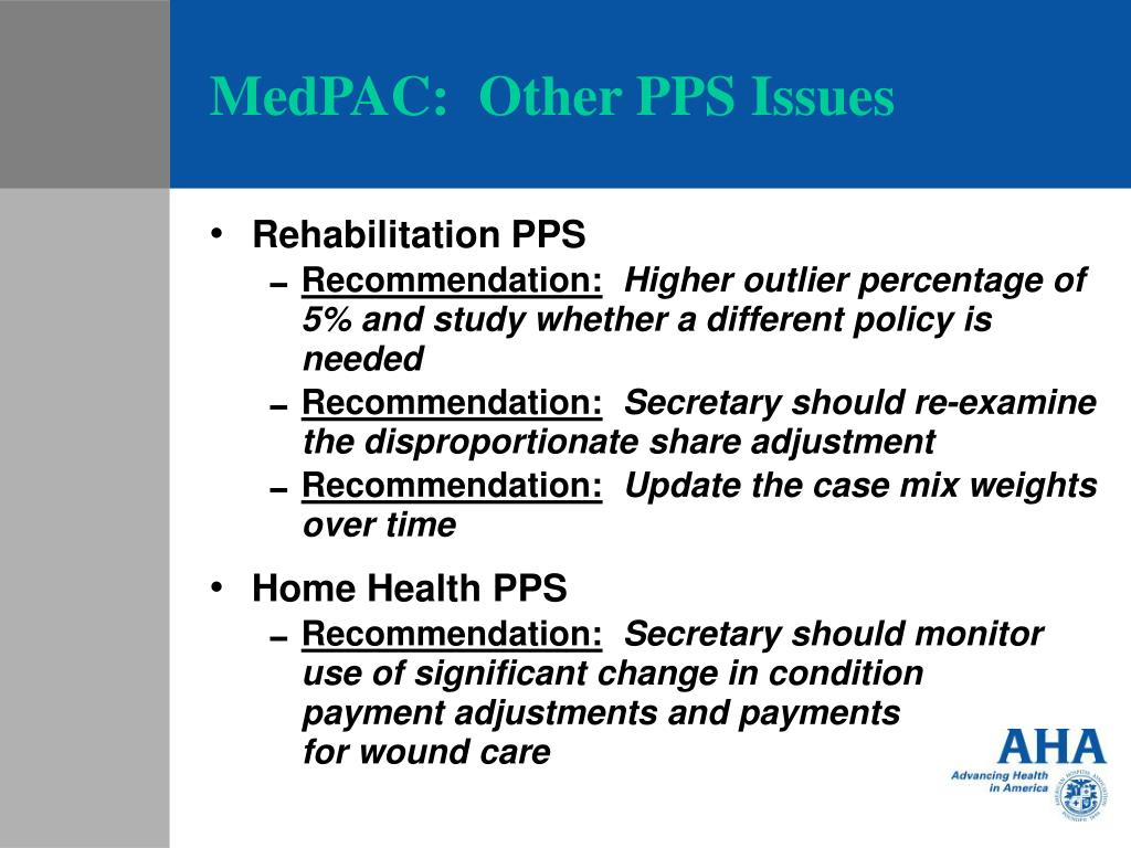 MedPAC:  Other PPS Issues