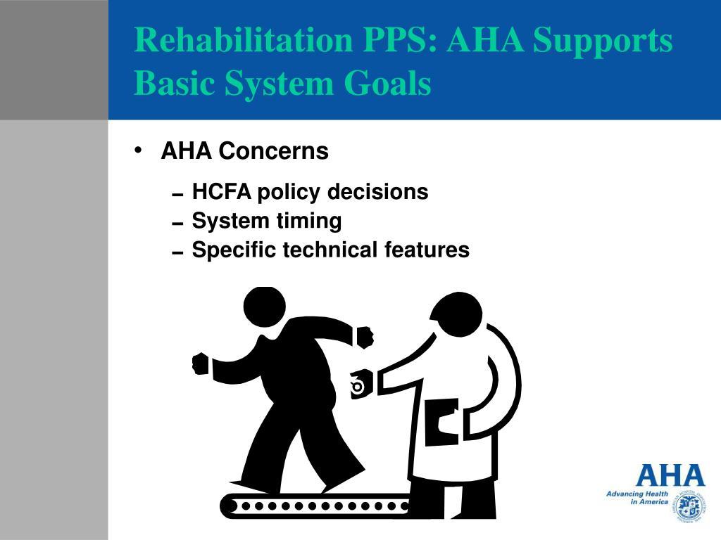 Rehabilitation PPS: AHA Supports Basic System Goals