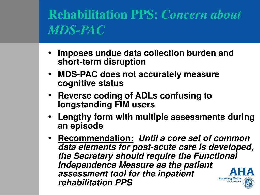 Rehabilitation PPS: