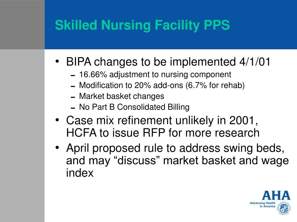 Skilled Nursing Facility PPS