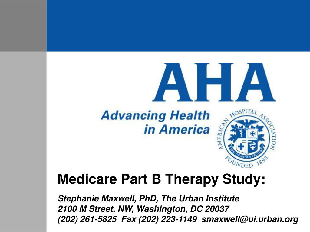 Medicare Part B Therapy Study: