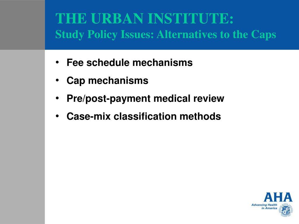 THE URBAN INSTITUTE: