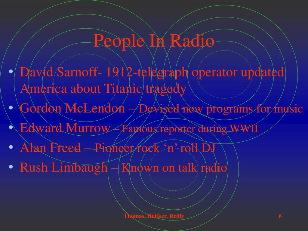 People In Radio
