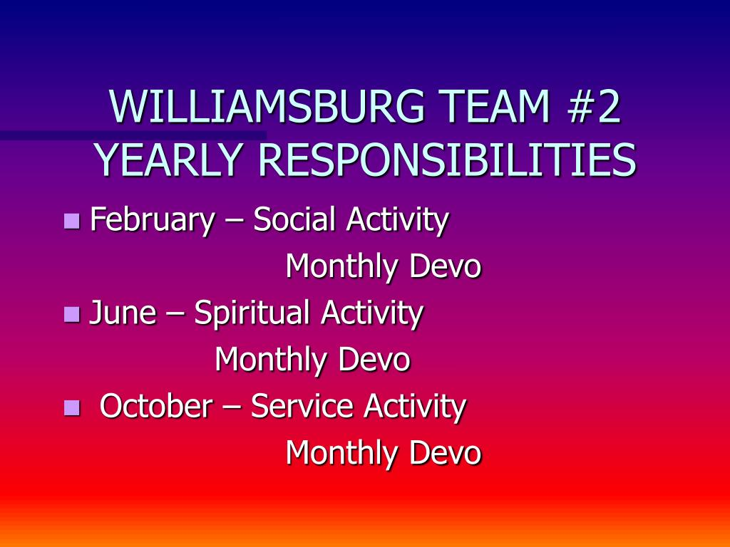 WILLIAMSBURG TEAM #2