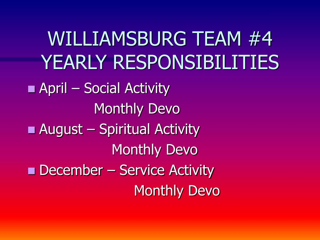 WILLIAMSBURG TEAM #4