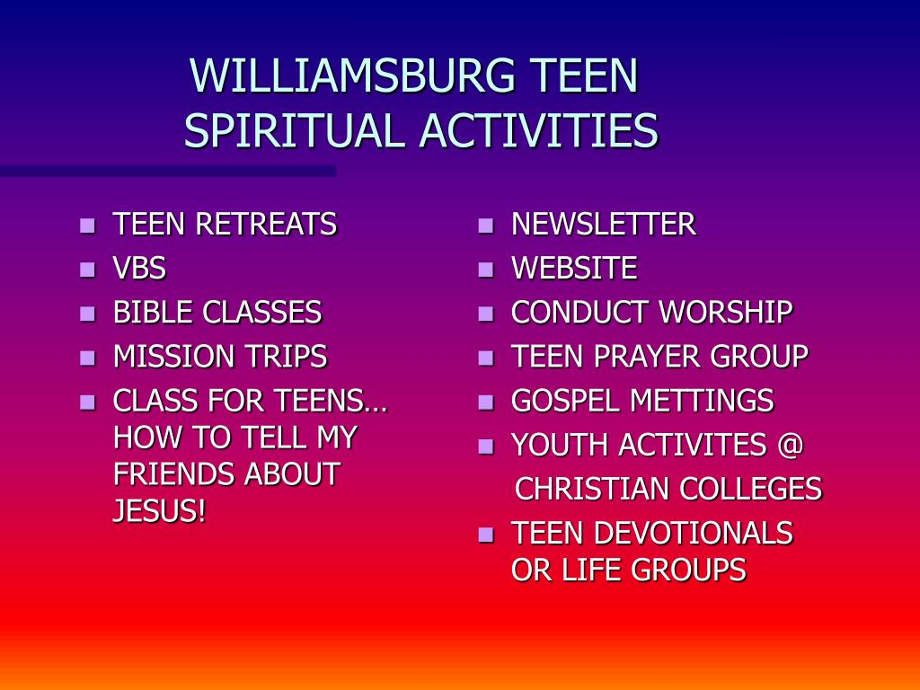 TEEN RETREATS