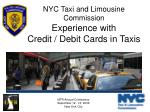 nyc taxi and limousine commission experience with credit debit cards in taxis