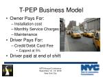 t pep business model