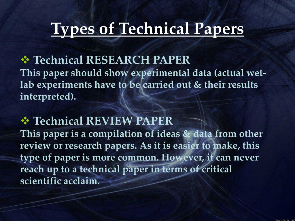how to write technical paper presentation This handout outlines strategies for writing and presenting papers for   presenting at a conference is a great opportunity for gaining valuable feedback  from a.