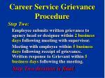 career service grievance procedure33
