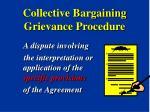 collective bargaining grievance procedure