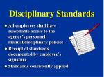 disciplinary standards