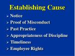 establishing cause13