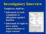 investigatory interview