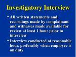 investigatory interview21