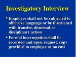 investigatory interview22