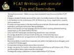 fcat writing last minute tips and reminders