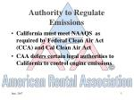 authority to regulate emissions