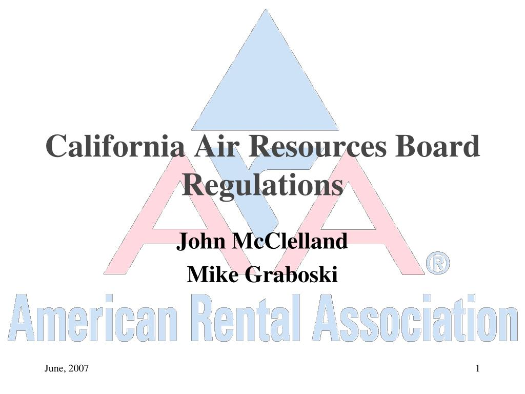 california air resources board regulations