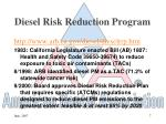 diesel risk reduction program
