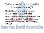 national ambient air quality standards naaqs