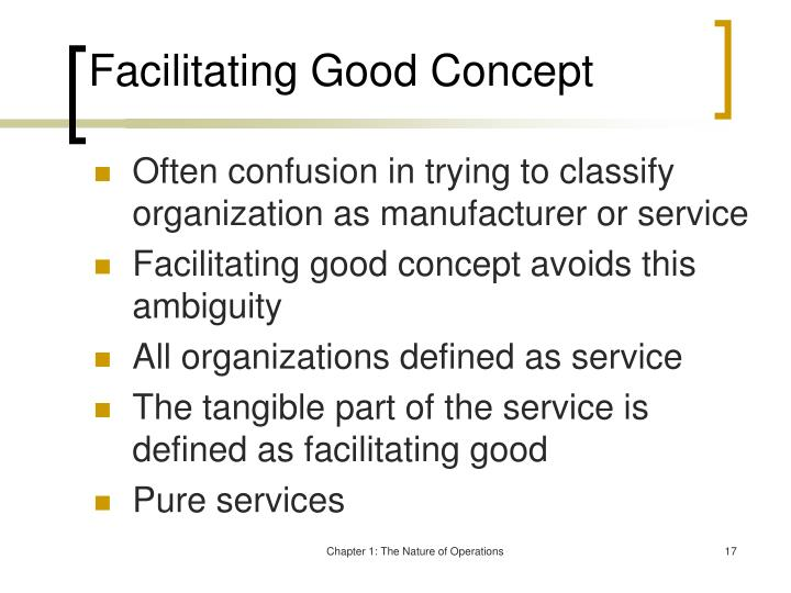 Facilitating Good Concept