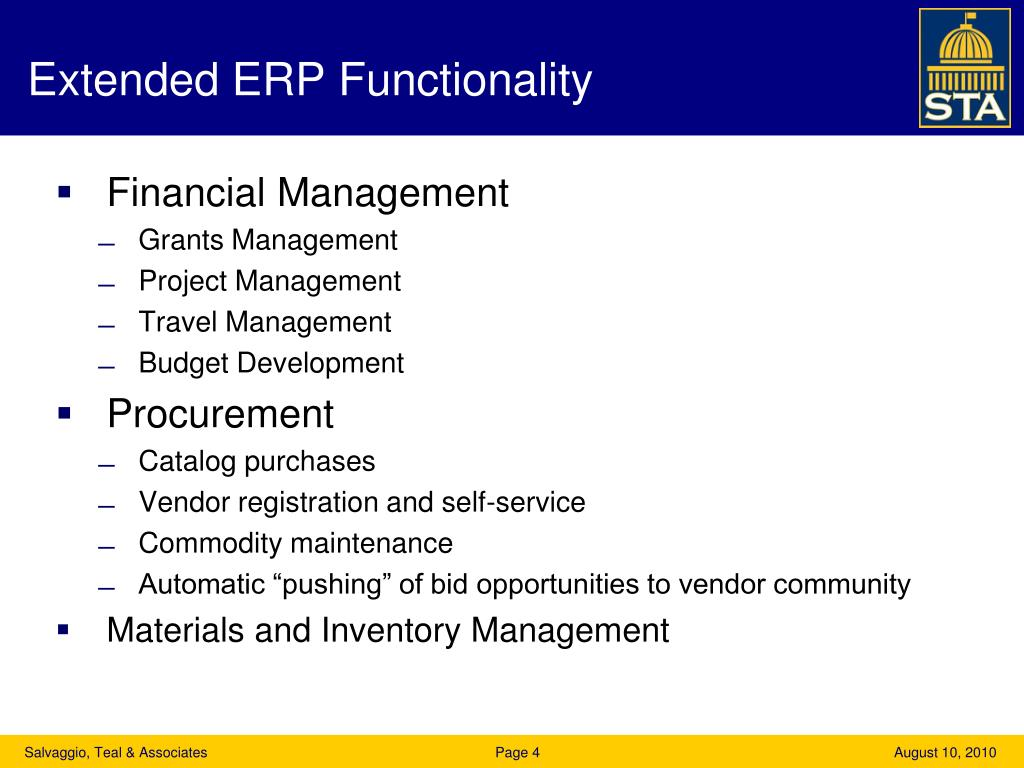 Extended ERP Functionality