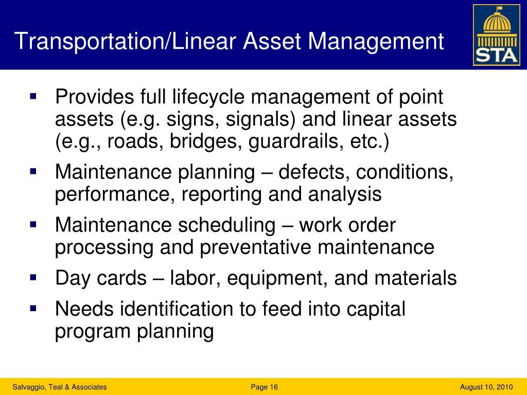 Transportation/Linear Asset Management