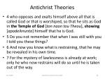 antichrist theories63