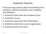 antichrist theories74