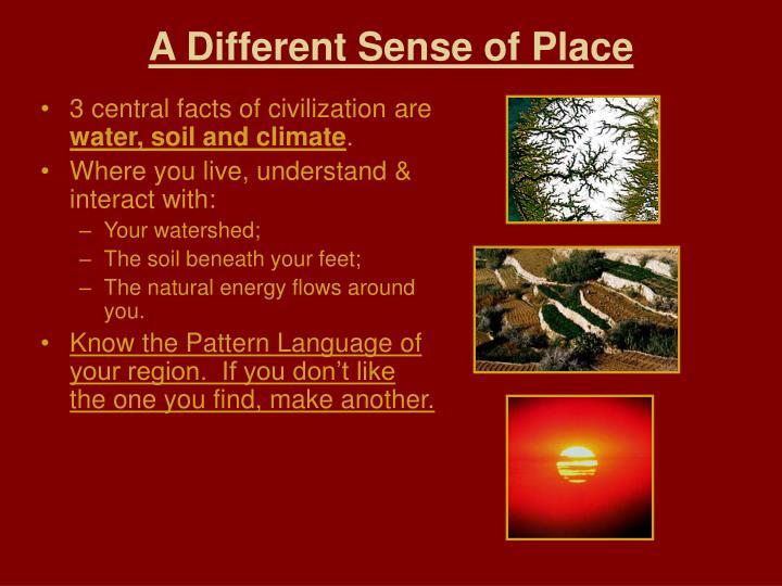 A Different Sense of Place