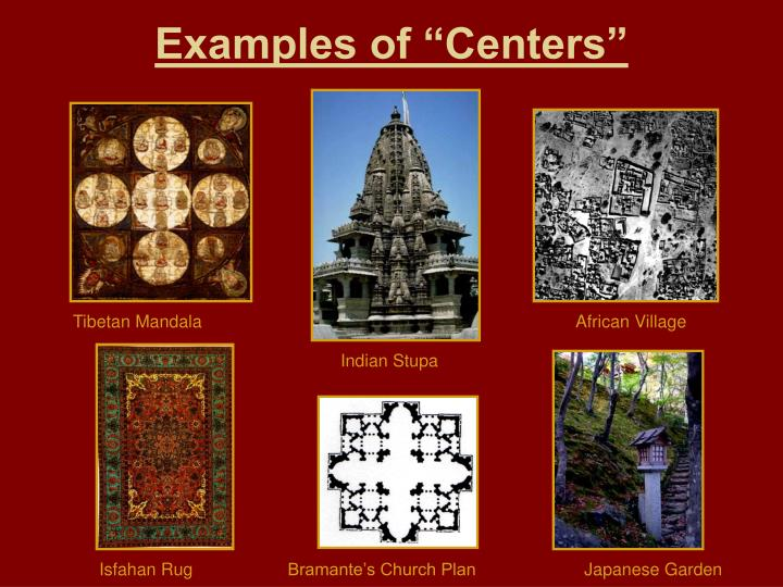 """Examples of """"Centers"""""""
